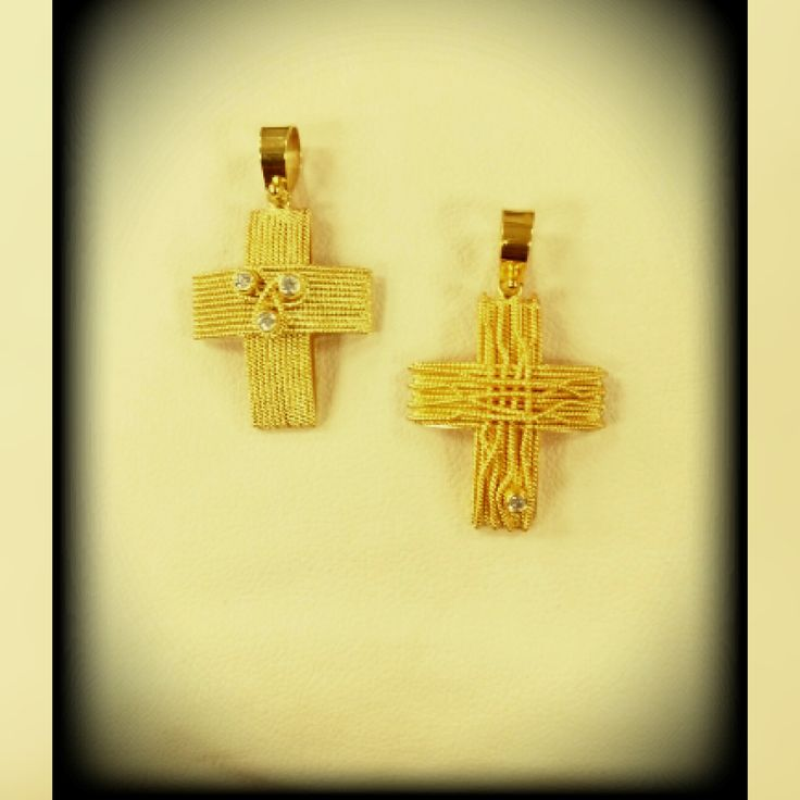 gold cross 18k with precious stones