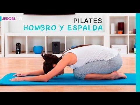 Ejercicios de Pilates para espalda y hombro - YouTube