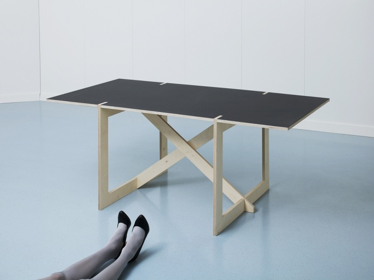 Colin Schaelli's con.temporary furniture, assembles without tools or screws