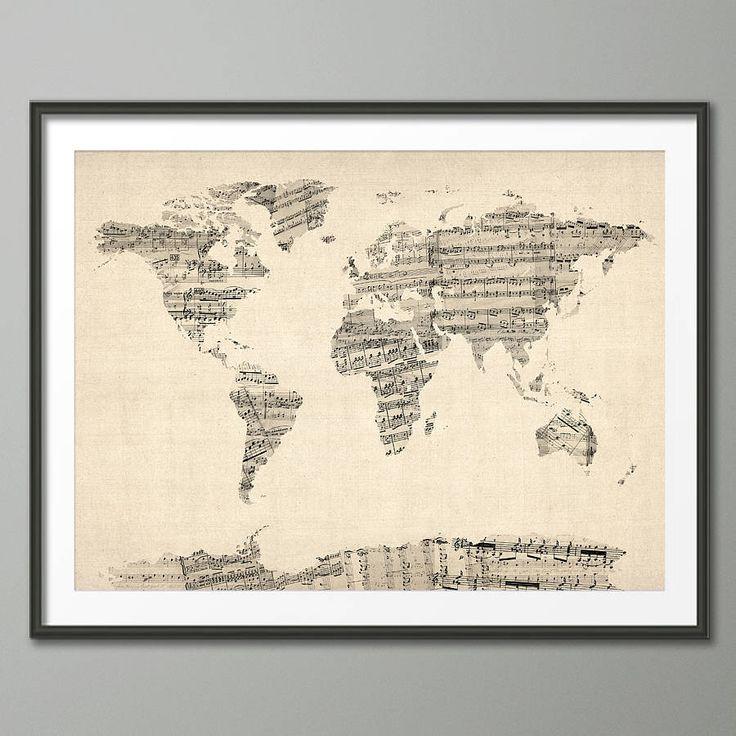 Michael Tompsett Music World Map 9
