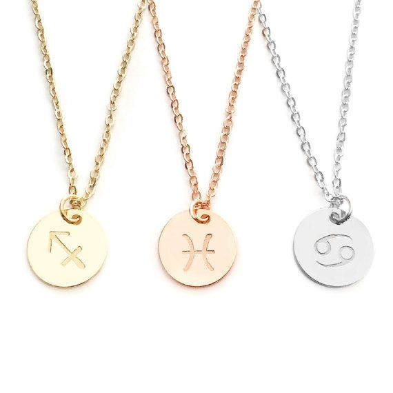 Cancer Zodiac Necklace Gift Women Zodiac by MignonandMignon