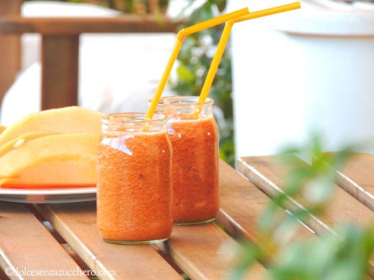 Frullato di Melone Pre e Post Allenamento | Dolce Senza Zucchero