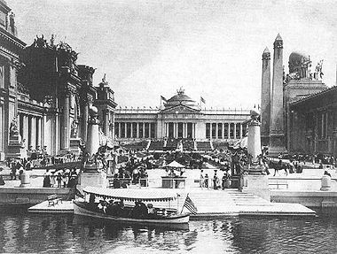 St. Louis World's Fair in 1904- 1,200 acres were developed for the purpose. Much of the land and many of the buildings remain as part of Forest Park and Washington University.