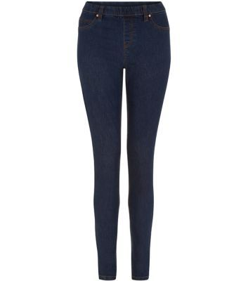 """Keep denim looks comfy with this navy pair of jeggings - wear with a camel jumper and brogues this season.- Seam stitch detail- Elasticated waist- Belt loops- Ankle length- Slim fit- Model is 5'8""""/176cm and wears UK 10/EU 38/US 6"""