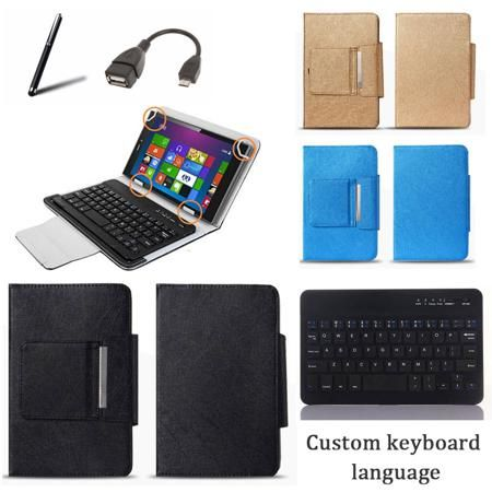 8 Inch Universal Bluetooth Keyboard Case for Prestigio MultiPad Visconte Quad 3GK PMP1080TD Keyboard Language Customize + Gifts  — 877.83 руб. —