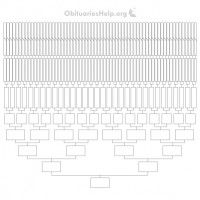 New Free 16ft Family Tree Templates Chart 12 Generations of Family Heritage