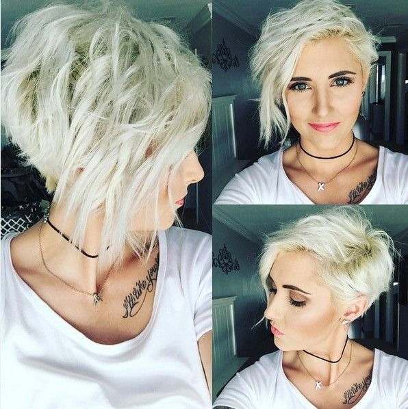 Asymmetrical-Messy-Layered-Short-Haircuts-for-2017-Light-Blonde-Short-Hair » New Medium Hairstyles