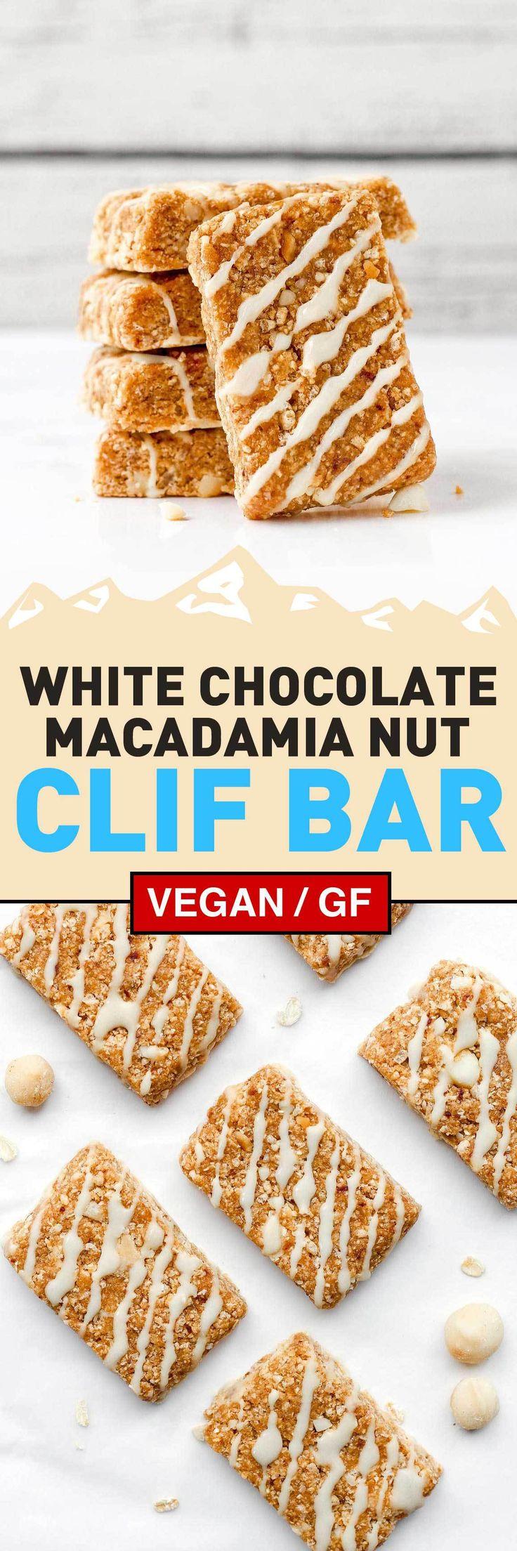 Vegan White Chocolate Macadamia Clif Bars