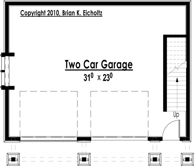 The Red Cottage Floor Plans, Home Designs, Commercial Buildings, Architecture, Custom Plan Design - Mountain Garage