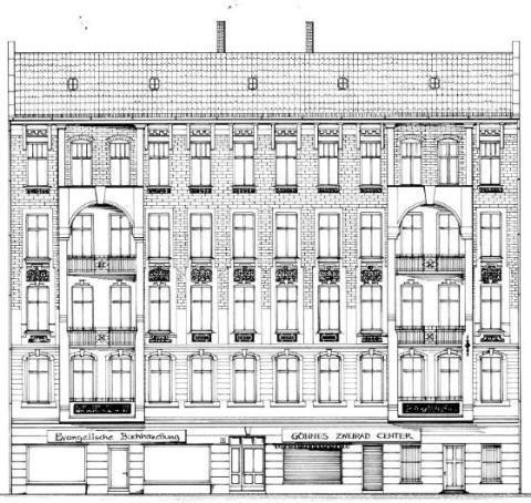 #Fassadenzeichnung / Ansicht Seelower Str. 2 #berlin