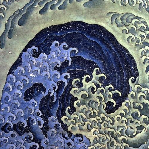 This popular image by Katsushika Hokusai exudes the great power of the wave by incorporating the delicacy of form instilled by a Japanese master. Artist: Katsushika Hokusai Title: Feminine Wave Produc