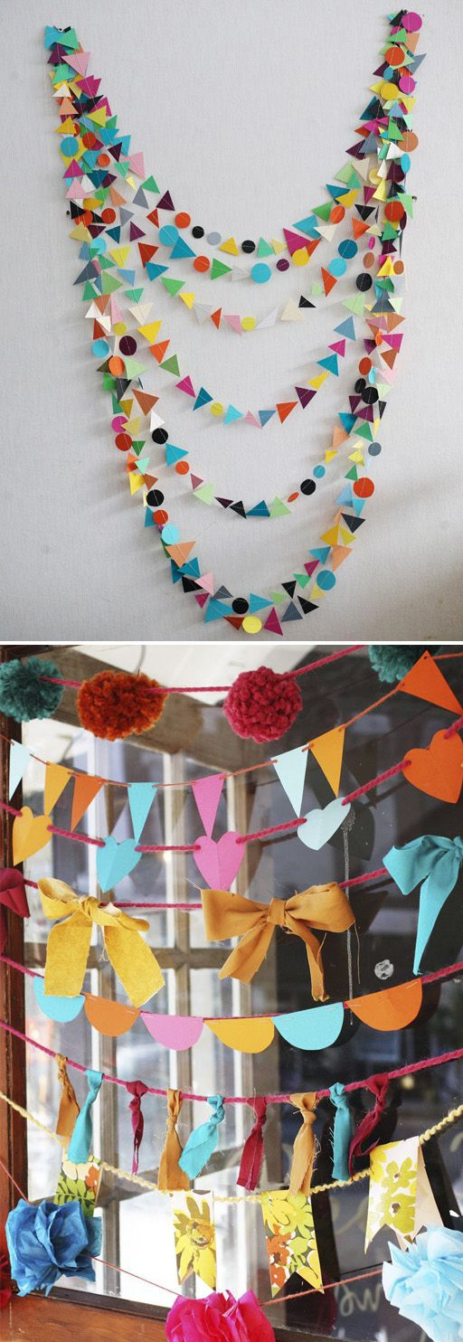 Hang garlands, either vertically or horizontally. | 27 Ways To Maximize Space With Room Dividers