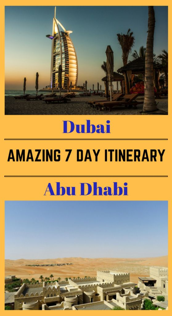 A great 7 day Itinerary to discover Dubai and Abu Dhabi yourself. With 31 fun activities to keep everyone happy! Check the details at http://www.globalgadding.com/dubai-abu-dhabi-7-day-itinerary/