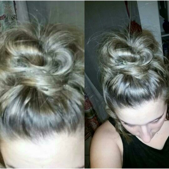 how to make a top knot bun with short hair