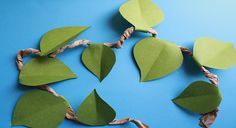 Leaf Bunting - http://www.pbs.org/parents/birthday-parties/wild-kratts-birthday-party/decorations/leaf-bunting/