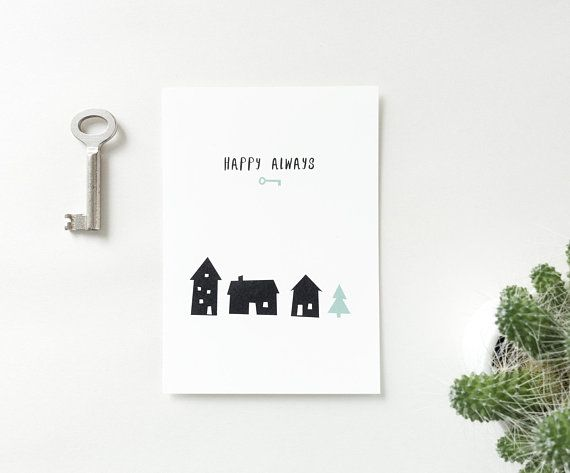 Happy Always Card New Home Moving Card Housewarming Postcard New