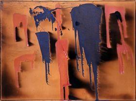 Untitled Color Fire Painting - Ив Кляйн