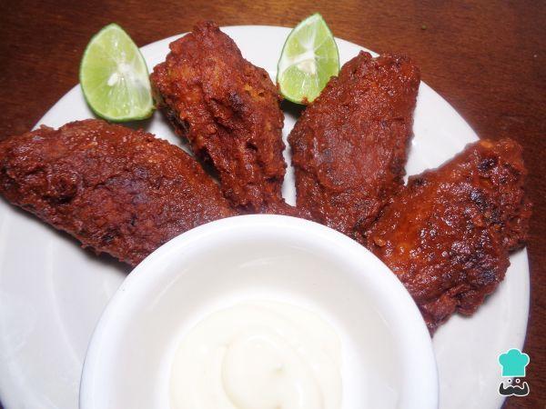 Receta de Alitas de pollo con salsa búfalo al horno