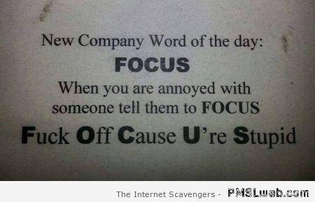 Bad word funnies – Sarcastic and crude humor   PMSLweb