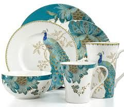 peacock dishes - Google Search