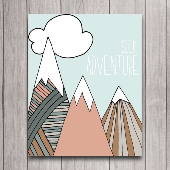 Seek Adventure Nursery Wall Art Poster Instant Download