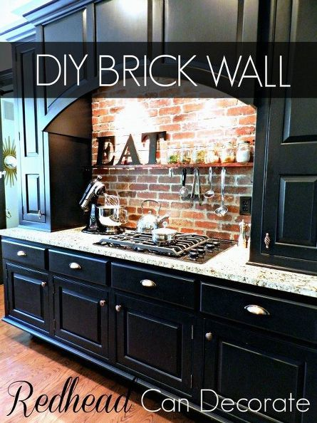 Grogeous DIY Brick Wall Backsplash