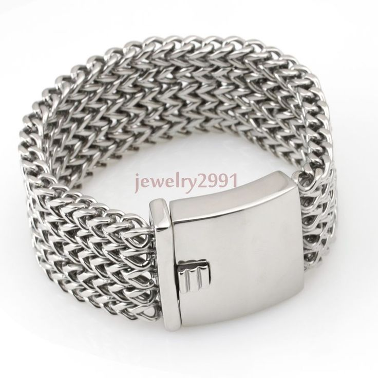 152g new arrival men's chain stainless steel wide heavy solid curb bracelet 45mm #Unbranded #Chain