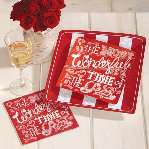 New chalkboard print style Christmas Party Supplies  Most Wonderful . # christmas #. Chalkboard PrintChristmas Paper PlatesPaper ... & 64 best Christmas Paper Plates and Paper Napkins images on Pinterest ...