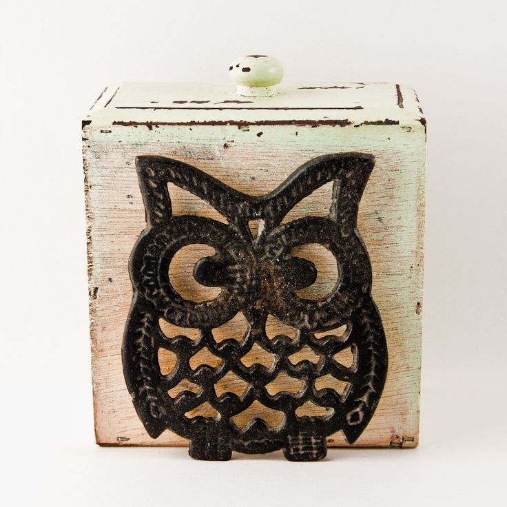Vintage Owl Pot Holder Housewares Home Decor Retro Owl Kitchen Decor Kitchenware Goodmerchants