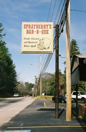 """""""Sprayberry's Bar-B-Que - *Jackson Street, Newnan, Georgia*""""  