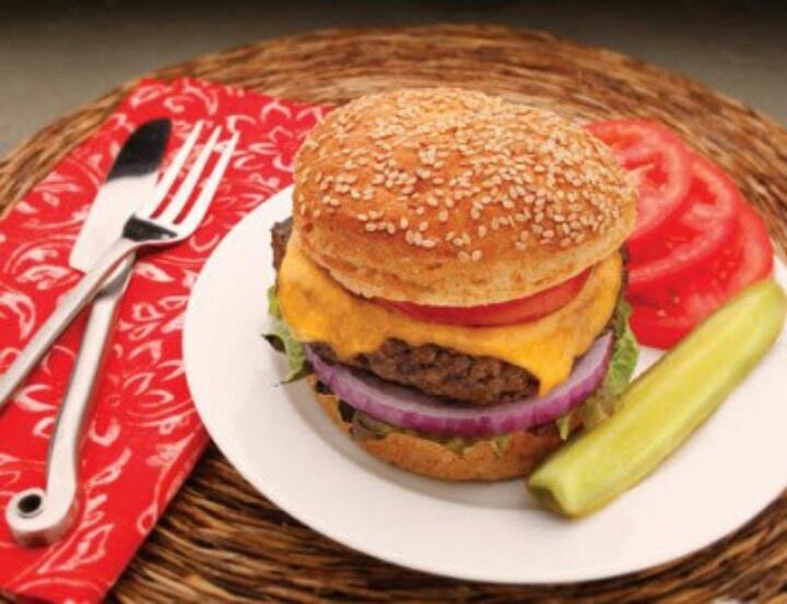 Ummmmmh a delicious hamburger gluten free
