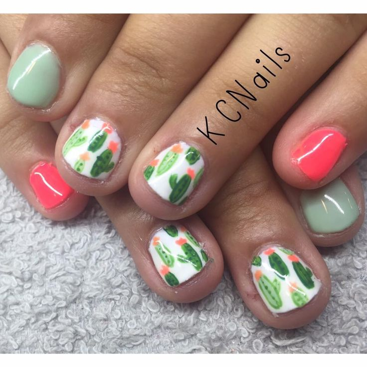 Cactus themed gel polish