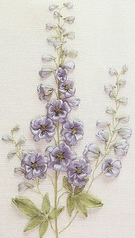 Beautiful ribbon embroidery