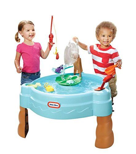 With the Little Tikes Fish n Splash Water Table, little fisherman can catch and count colorful little pond swimmers right in their own backyard! Plus there's lots of fill, pour and splash extras to make water fun.so much fun! Fill the fish bowl with water and watch it come splashing down, or try to launch your critters across the pond and onto the lily pad. Includes 10 accessory pieces for water play!  Features  Catch, collect and count your fish before releasing them with a splash!   Fill…