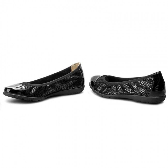 Baleriny CAPRICE - 9-22152-28 Black Rept Com 020