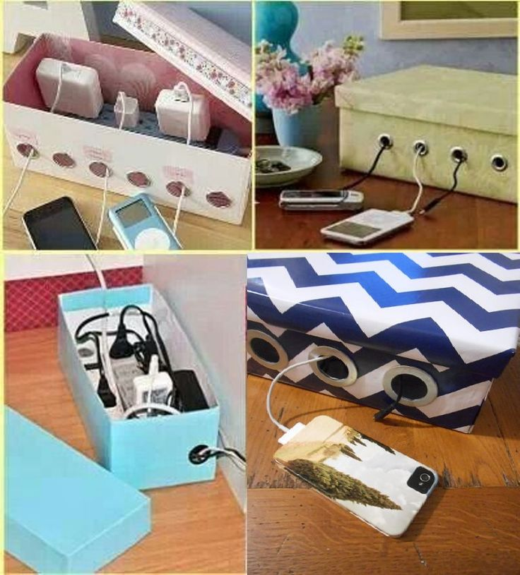 DIY- Shoe Box Charging Box Organizer - http://www.amazinginteriordesign.com/diy-shoe-box-charging-box-organizer/