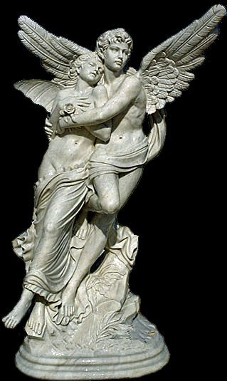 Female and Male Angel Statue