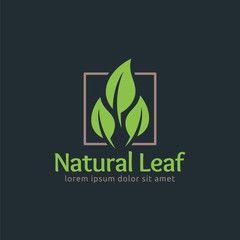 Natural Leaf, Leaf logo design template, easy to customize.