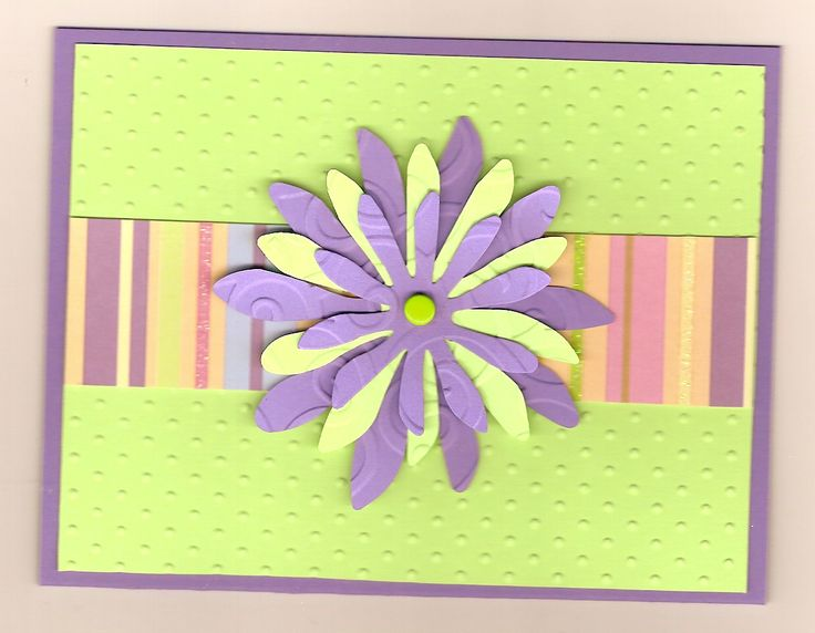 Love the focus point flower coordinating paper cute for for Easy handmade flowers