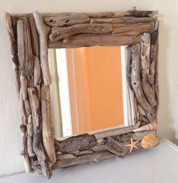 Driftwood framed mirrors