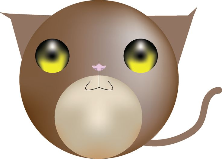 My little kitty done on illustrator. I just love making cute animals out of circles. Especially owls. I'm sure I have around 30 plus owl drawings that are just circle bases.