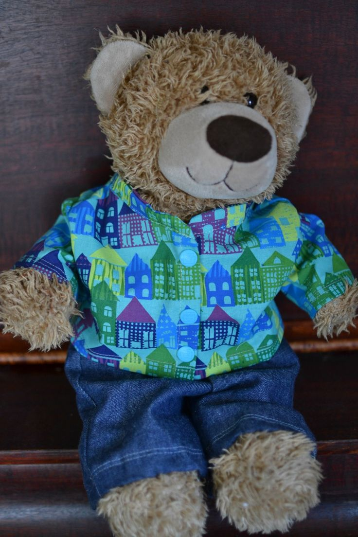 Teddy bear  clothes with patterns