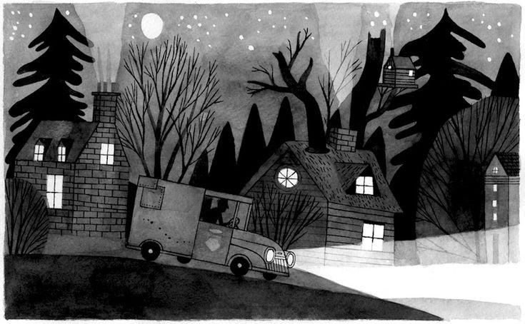 van at night by carson ellis
