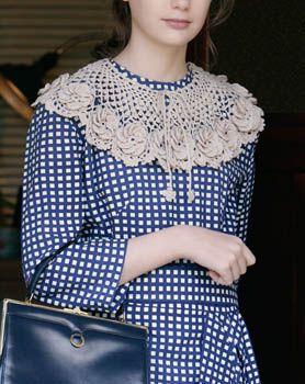crochet flower motif cape