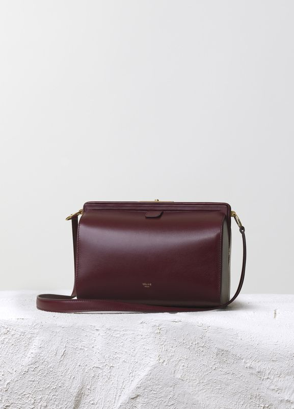 Mini Doc Handbag in Burgundy Box Calfskin 24 x 19 x 11 cm (9 x 7 x ...