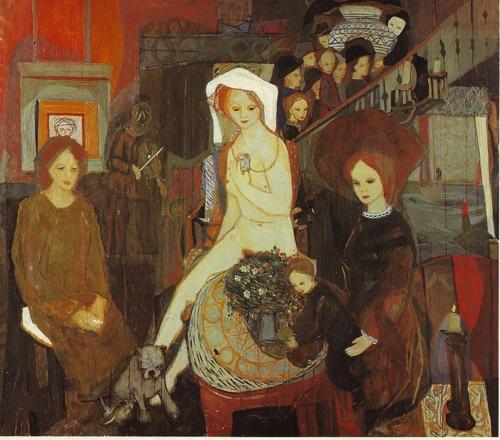 Kai Fjell Enken ('The Widow'), 1942 Norwegian artist, printmaker-