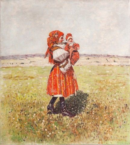 Červenský Karel | Krojačka | Aukce obrazů, starožitností | Aukční dům Sýpka