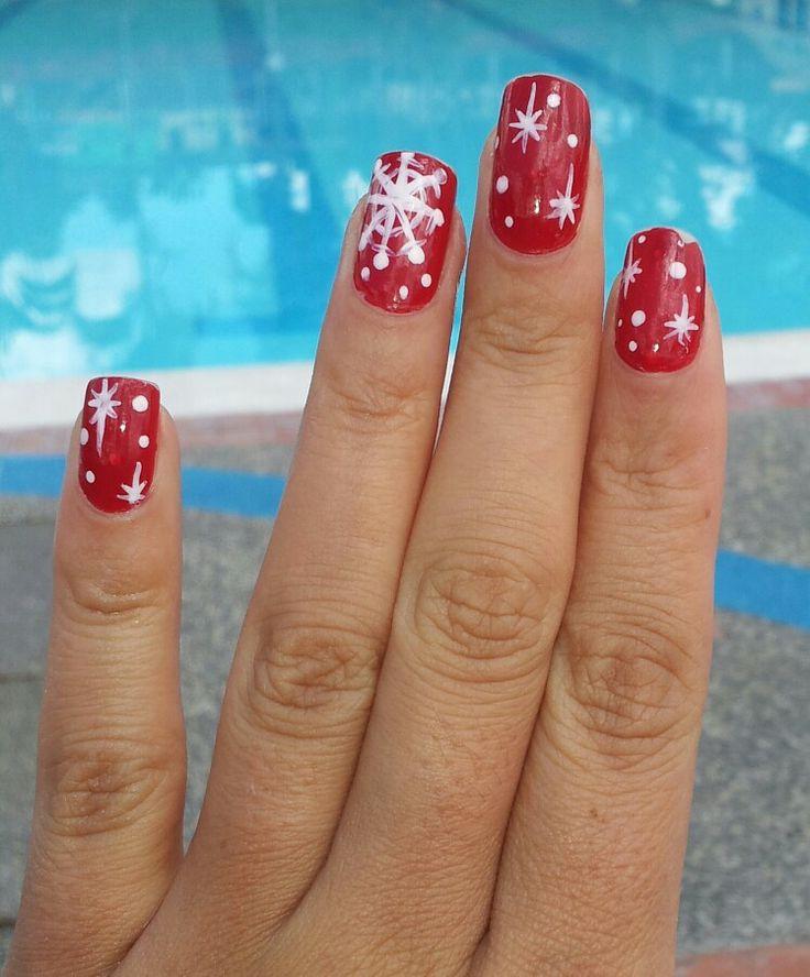 Nail art - manicura - uñas - navidad