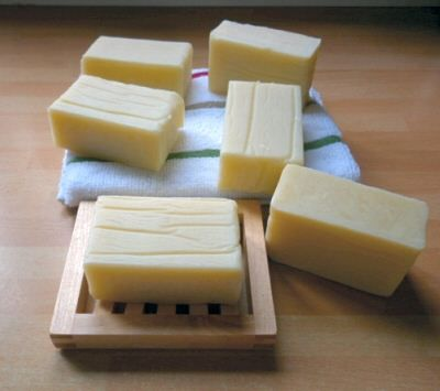 A number of soap making recipes and a few recipes for shampoo, too.