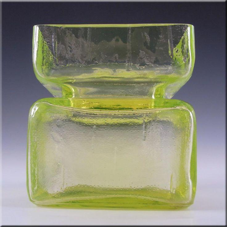 Riihimaki/Riihimaen Helena Tynell Uranium Glass Pala Vase - £100.00